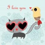 Cat lover — Stock Vector #12005658