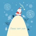 Christmas card with Santa Claus — Stock Vector #12451833