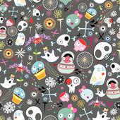 хэллоуин текстуры — Cтоковый вектор