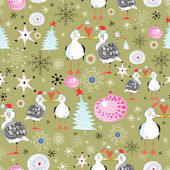 Christmas texture with gulls — Stock Vector