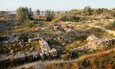 Ancient excavations — Stock Photo