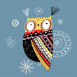 Ornamental owl — Stock Vector #13819488