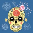 Decorative skull — Stock Vector