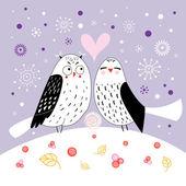 Love owls — Stock Vector