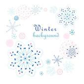 冬天背景 — 图库矢量图片