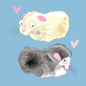 Fun loving hamsters — Stock Vector