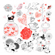 Different for Valentine's Day — Stock Vector