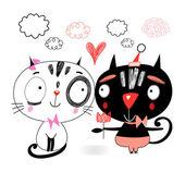 Amore gattini — Vettoriale Stock