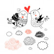 Love birds — Stock Vector #19090387