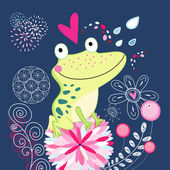 Frog in love — Vecteur