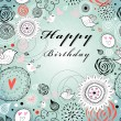 Floral greeting card for birthday — Stock Vector #20869349