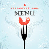 Restaurant menu card design — Stock Vector