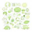 Vector graphics and icons ecology — Stock Vector