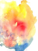 Bright colorful abstract watercolor stain — Stock Photo