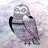 Graphic owl — Stock Photo