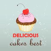 Tasty cake — Stock Vector