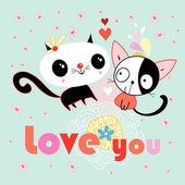Love kittens — Stock Vector