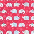 Stock Photo: Texture of small elephants