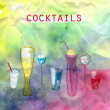 Bright tasty cocktails — Stock Photo #24572799