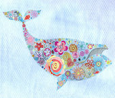 Ornamental whale — Stock Photo