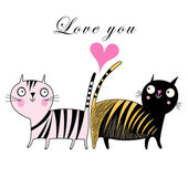 Love cats — Stock Vector