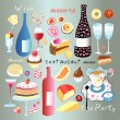 A set of food and drink — Imagen vectorial
