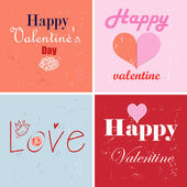 Different greetings for Valentine's Day — Vecteur
