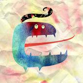 Cheerful monster — Stock Photo
