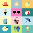 Icons to the summer recreation — Stock Vector