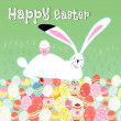 Easter card with rabbit — Stock Vector #26270935