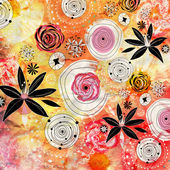 明亮花卉背景 — 图库照片