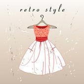 Retro jurk — Stockvector