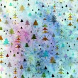 Christmas Background with winter woods — Stock Photo