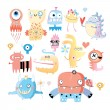 Set of monsters — Stock Vector #28110045