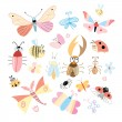 Stock Vector: Different insects