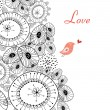 Abstract background with love bird — Image vectorielle