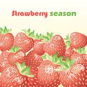 草莓与背景 — 图库矢量图片