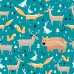 Texture of wild animals — Stock Vector #28794365