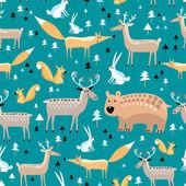 Texture of wild animals — Stock Vector