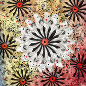 Exotic abstract pattern — Stockfoto