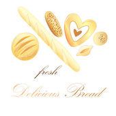 Delicious Bread — Stock Vector