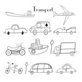 Illustration of different types of transport — Stockvector