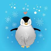 Funny little penguin — Stock Vector