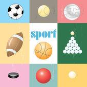 球类运动用品一套 — 图库矢量图片