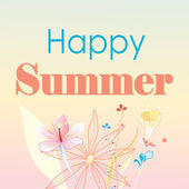 Happy happy summer card — Stock Vector