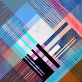Abstrakta geometriska mönster — Stockfoto