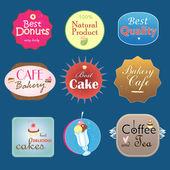 Set of vintage label design bakery — Stock Vector