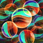 Abstract background from transparent circles — Foto de Stock