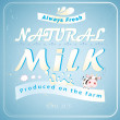 Great advertising milk — Stock Vector