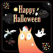 Greeting card for Halloween — Stock Vector